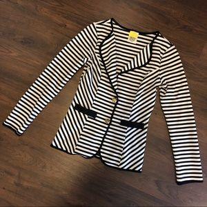 Fab Black & White Striped Blazer